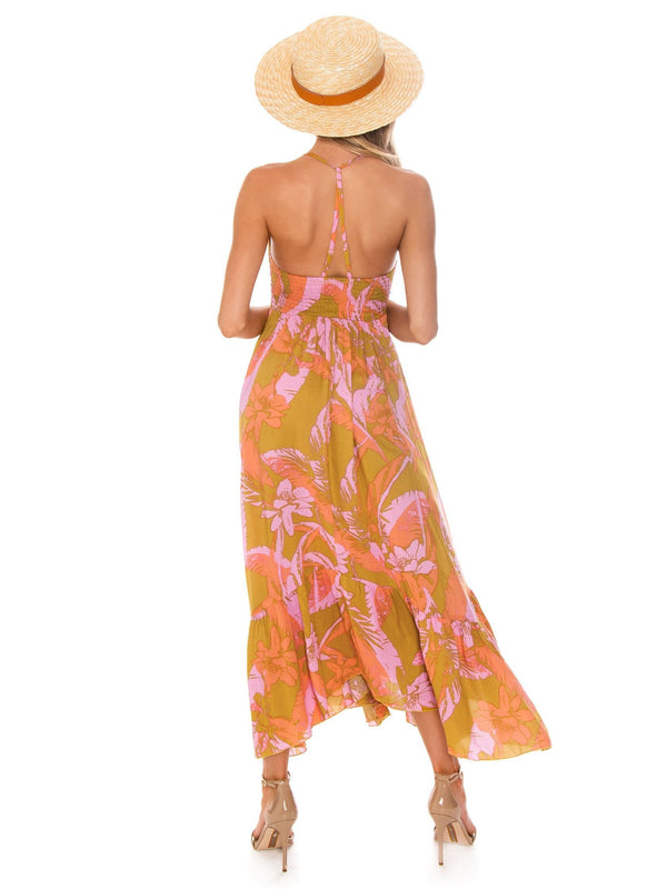 FINAL SALE Heat Wave Printed Maxi