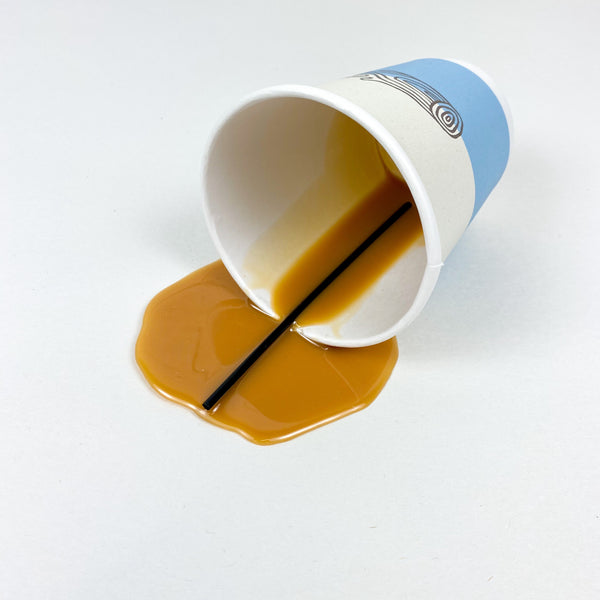 Spilled To Go Cup of Coffee