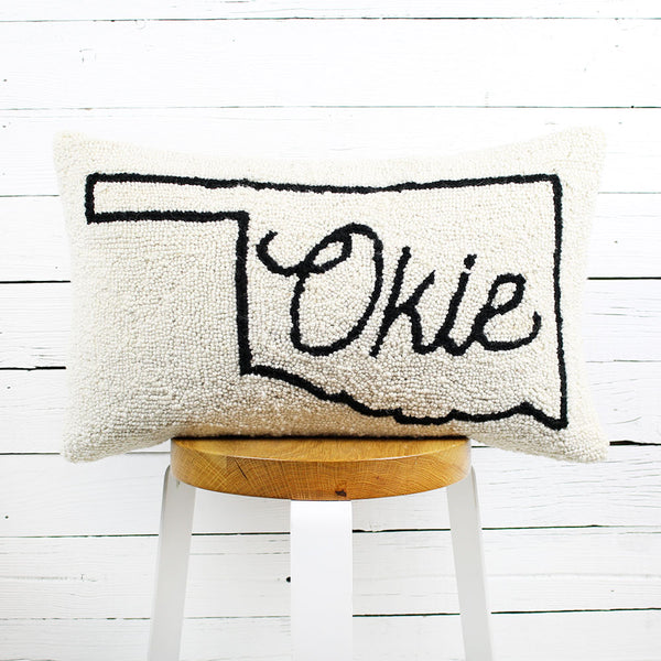 Okie Map Pillow 12x20