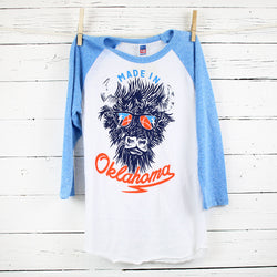 Kids Made in Oklahoma Baseball Tee