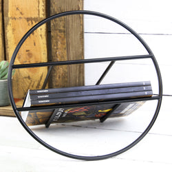 Hoop Magazine Rack - Black