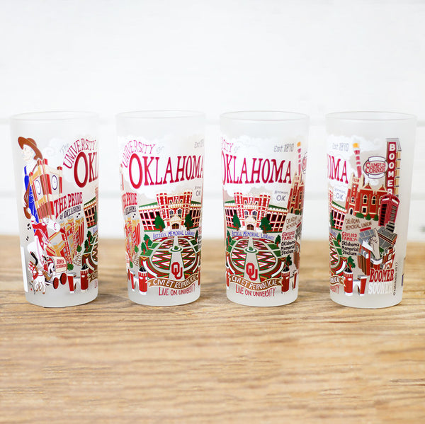 University of Oklahoma Individual Glass