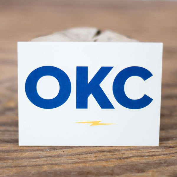 OKC Bolt Sticker