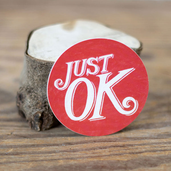 Just OK Logo Sticker