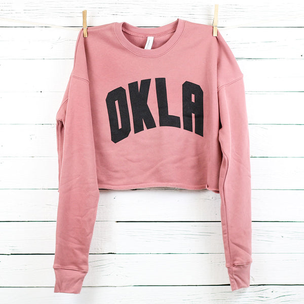 OKLA Cropped Sweatshirt