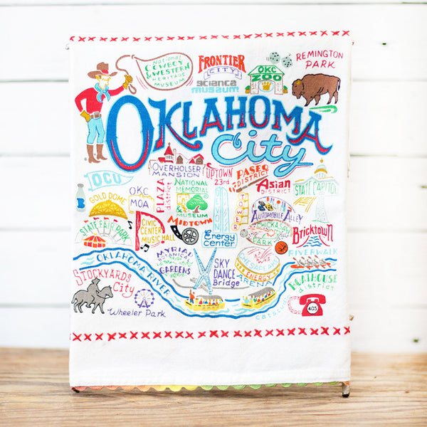 Oklahoma City Dish Towel