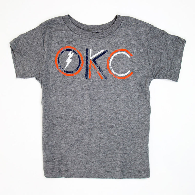 Kids Double Lines OKC Tee