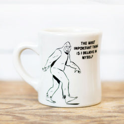Believe in Myself Bigfoot Mug