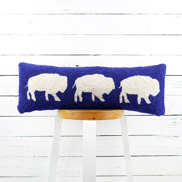 Buffalo Trio Pillow 8x24