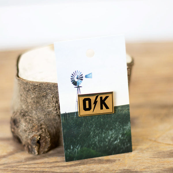 O Bolt K Enamel Pin