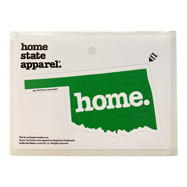 Home. Sticker - Green