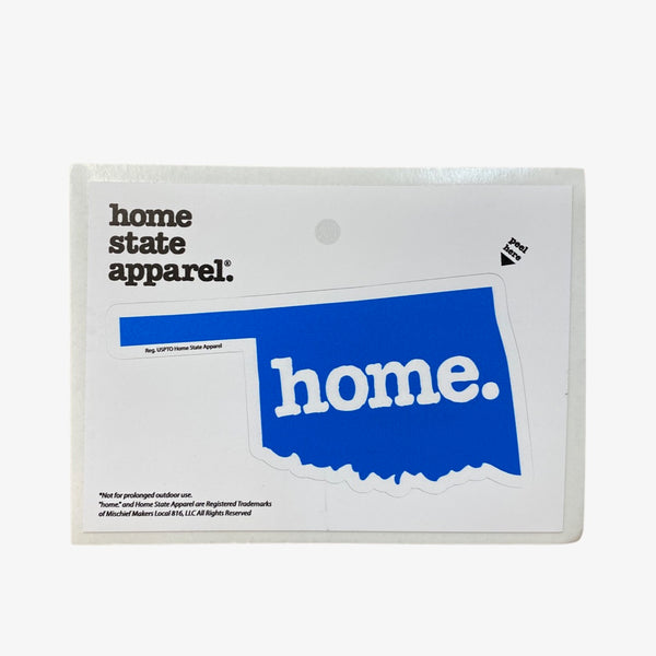 Home. Sticker - Royal Blue