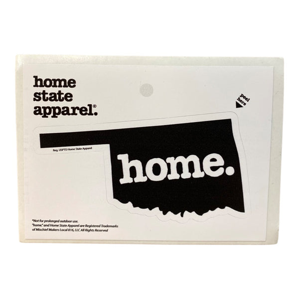 Home. Sticker - Black