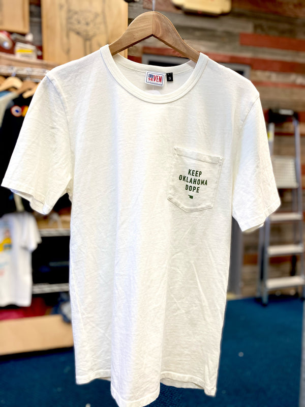 Keep Oklahoma Dope Pocket Tee - Cream