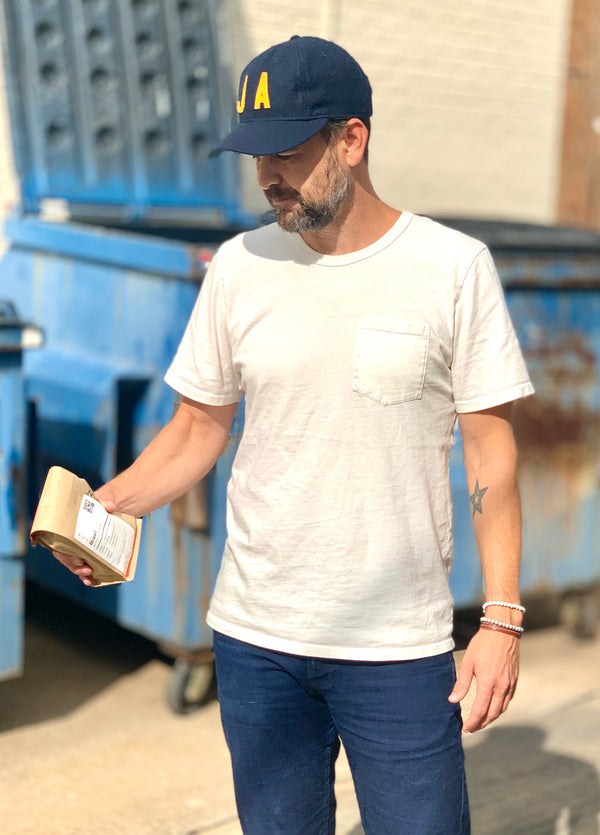 Blue Seven Backed Premium Pocket Tee