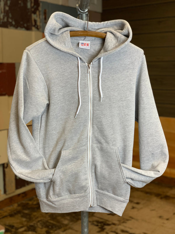 Blue Seven Backed Fleece Full-Zip Hoodie