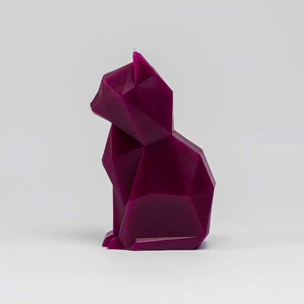PyroPet Kisa Candle - Burgundy