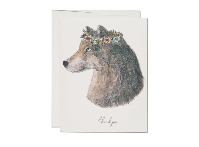Wolf Thank You Card