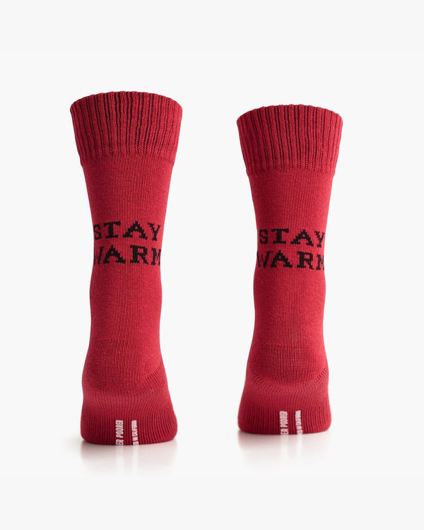 Stay Warm Socks - Red