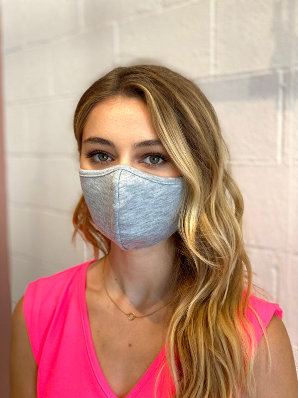 Heather Grey Cotton Face Mask