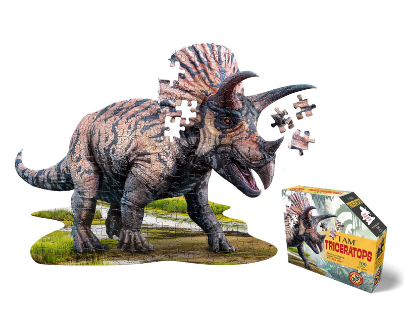 I Am Triceratops 100 pc Puzzle