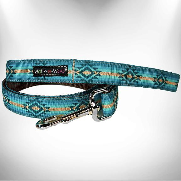 "1"" Dog Leash Turquoise Sky"