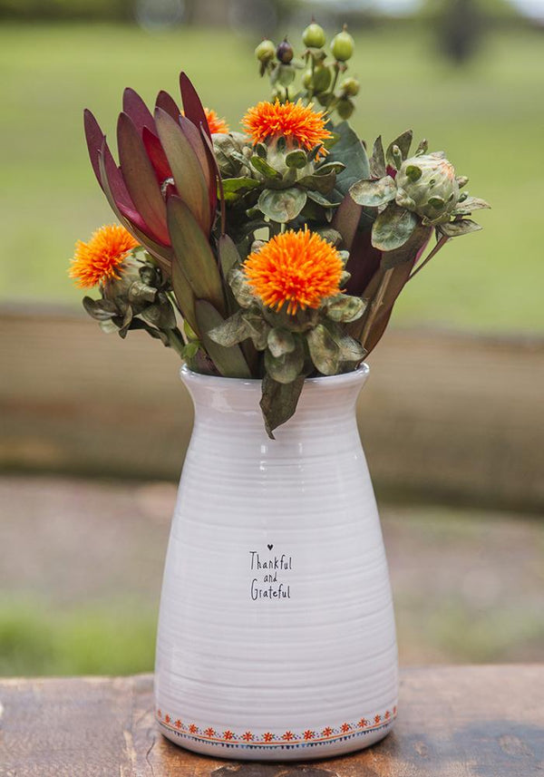 Thankful & Grateful Bouquet Vase