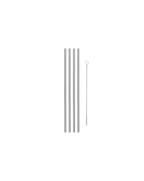 "10"" Metal Straws Set of 4"