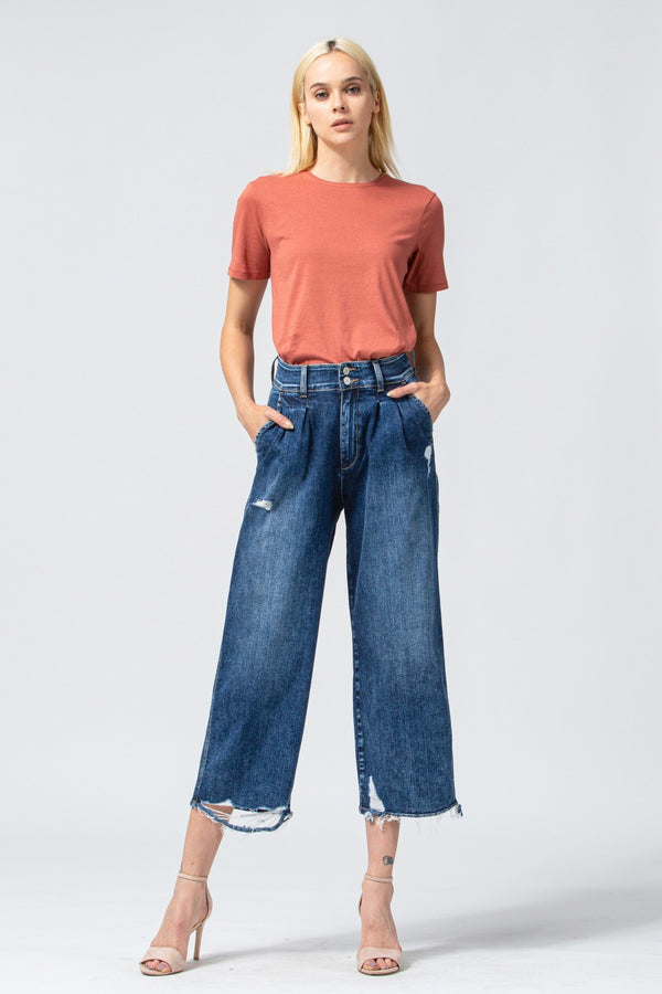Super High Rise Pleated Wide Waistband