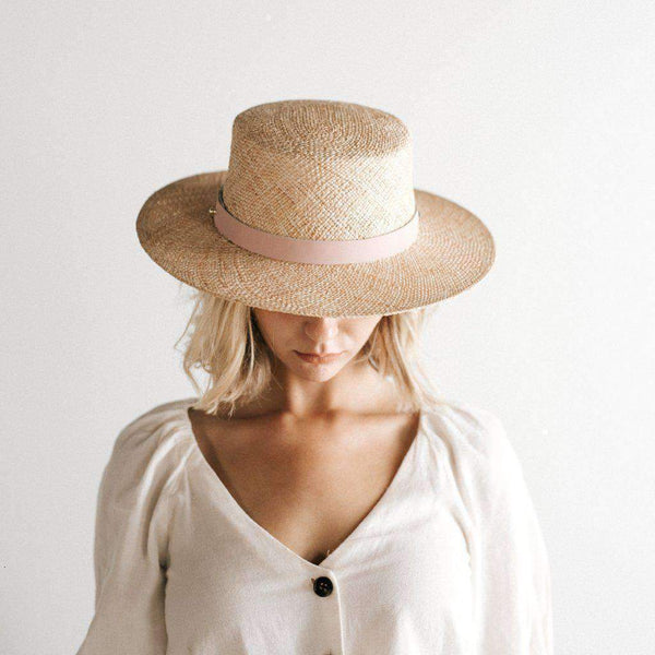 Brae Woven Straw Boater Hat