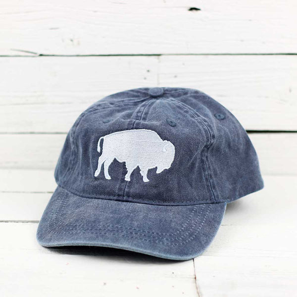 White Stitch Bison Hat