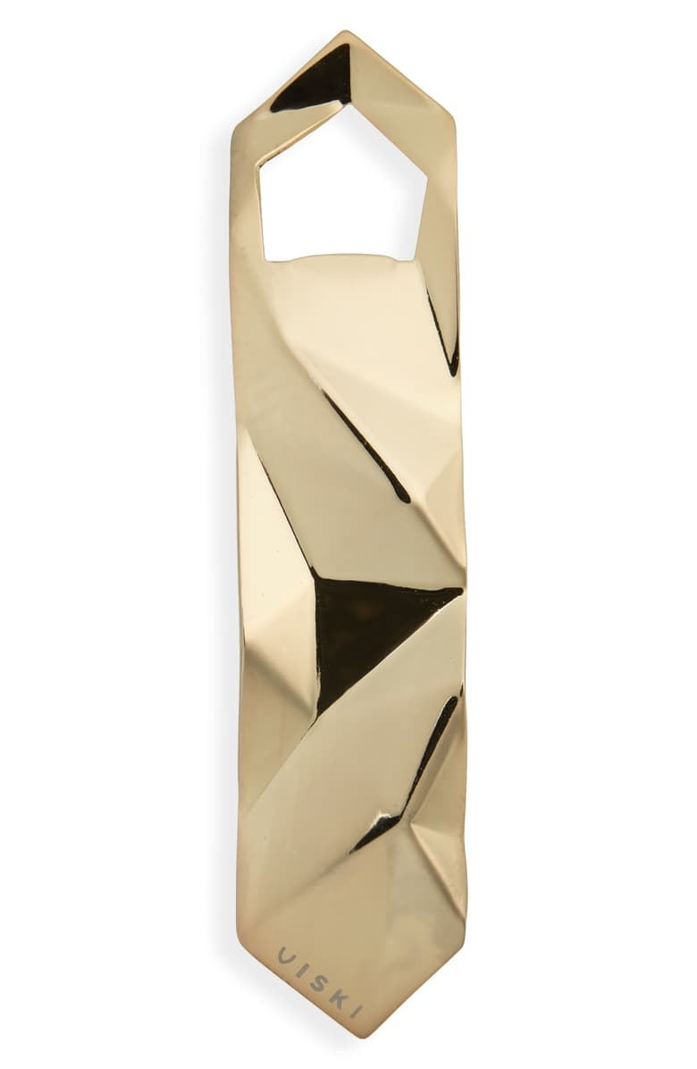True Brands Belmont Faceted Gold Bottle Opener