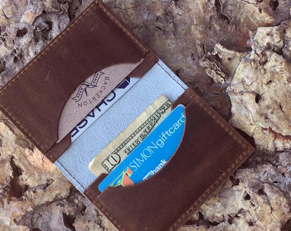 Backerton Bike Diagram Leather Cardholder Wallet