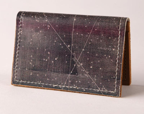 Backerton Star Map Leather Cardholder Wallets