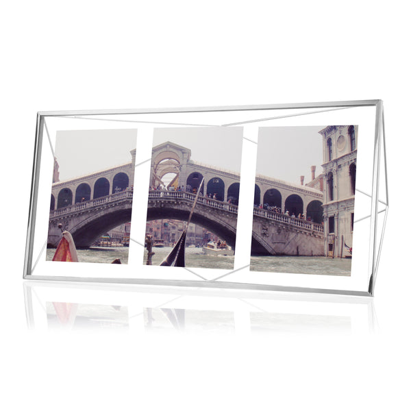 Prisma Multi Photo Picture Frame - Chrome