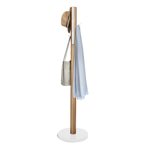 Flapper Coat Rack - White/Natural