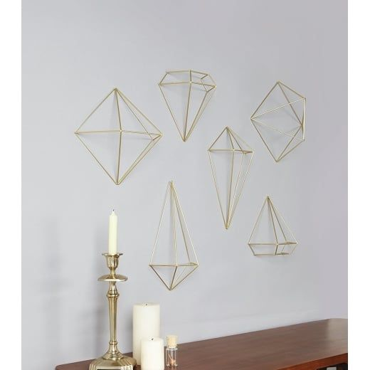 Prisma Wall Decor - Matte Brass