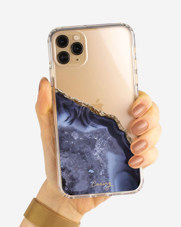 Dark Blue Agate iPhone Case