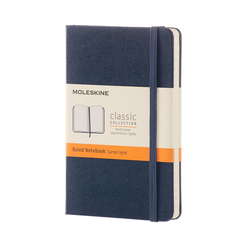 Hard Cover Ruled Pocket Notebook - Sapphire Blue