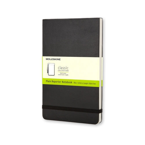 Reporter Plain Large Notebook - Black