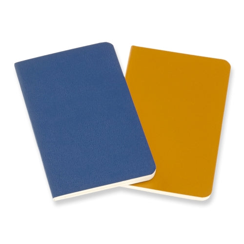 Volant Large Ruled Journal - Forget Me Not Blue/Amber Yellow