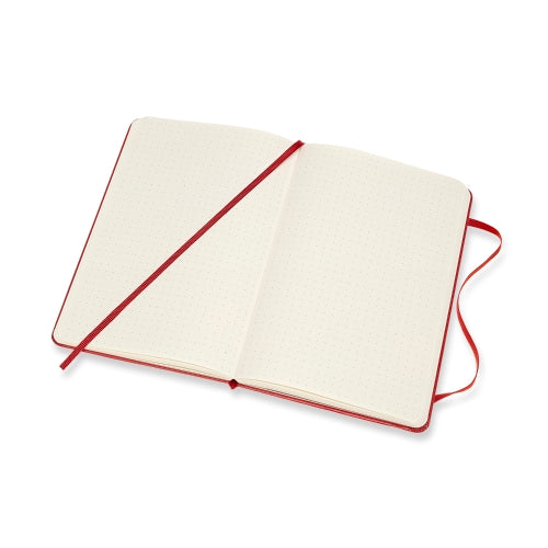 Classic Large Dotted Notebook - Scarlet Red