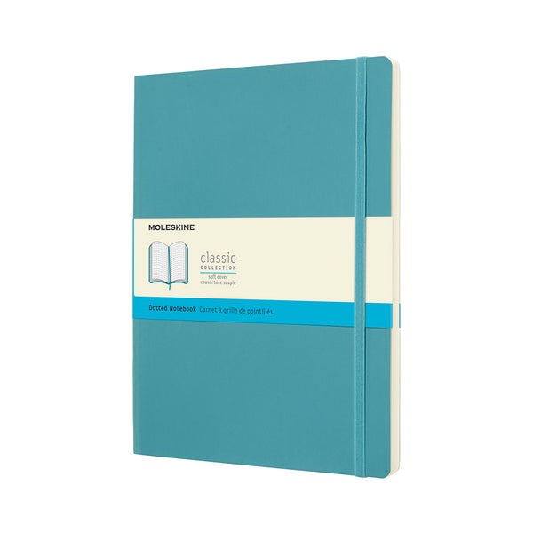 Classic XL Dotted Notebook - Reef Blue