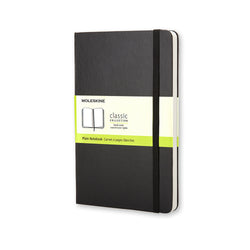 Classic Large Plain Hard Cover Notebook - Black