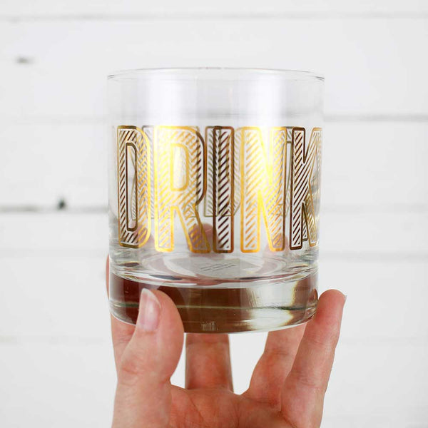 FINAL SALE Easy Tiger Low Ball Glass - Drinky