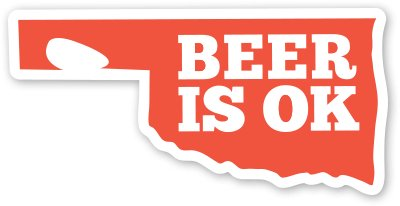 Beer is OK Logo Sticker