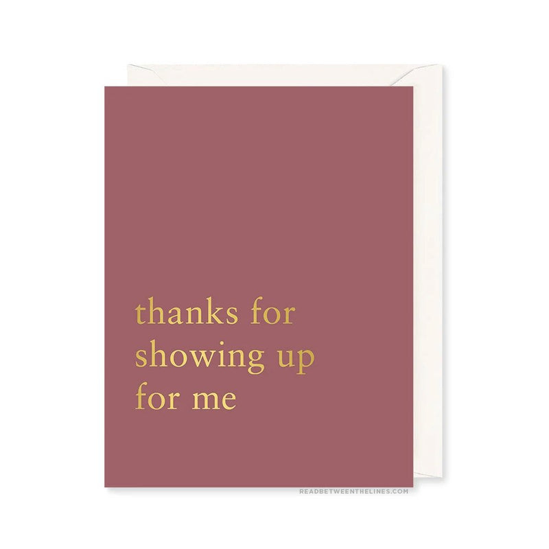 Showing Up Card