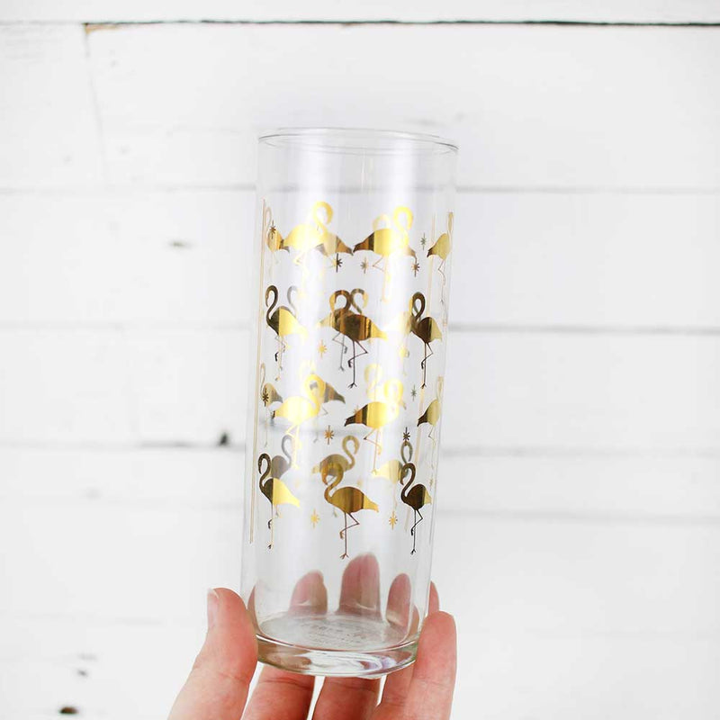 FINAL SALE Easy Tiger Cocktail Glass - Flamingo