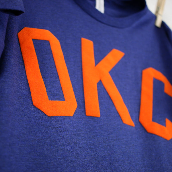 FINAL SALE OKC Flocked Letters Crew