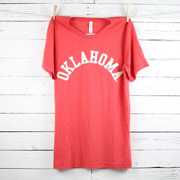 FINAL SALE Flocked Oklahoma Tri-Blend Tee